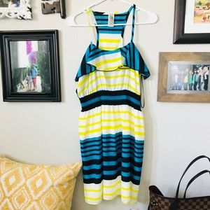 Blue, Yellow & White Stripped Sundress!